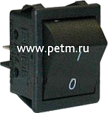 "A14H, Кнопка-тумблер чёрная ""ON-OFF"" , 16А/250V AC"